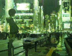 「最後の一日」/ ''The last day'', 2007,  acrylic on canvas