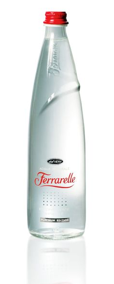 Ferrarelle Special Edition: This bottle of Ferrarelle water was presented on the occasion of the Salone Internazionale del Mobile Water Packaging, Water Branding, Beverage Packaging, Bottle Packaging, Food Packaging Design, Packaging Design Inspiration, Glass Bottles, Drink Bottles, Innovative Packaging