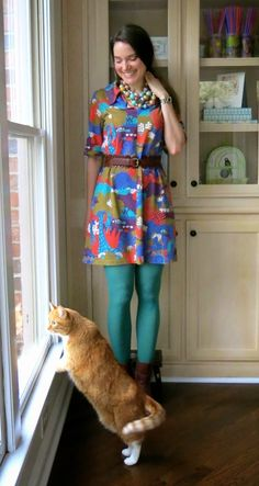 Cassie Stephens: What the Art Teacher Wore #96 and Artist/Teachers Art Teacher Outfits, Teacher Wear, Summer Teacher Outfits, Teacher Wardrobe, Teaching Outfits, Teacher Style, Teacher Clothes, Funky Outfits, Casual Work Outfits