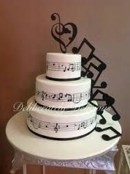 A music note wedding cake because you go together in harmony!also this cake would be great for chorus or choir group party's or events Music Themed Cakes, Music Cakes, Music Birthday Cakes, Music Wedding Cakes, Birthday Cakes For Teens, Pretty Cakes, Beautiful Cakes, Amazing Cakes, Bolo Musical