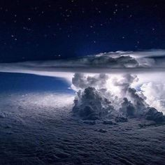 A towering thunderstorm lights up the night skies over Panama, as seen at 37,000 feet. (Photo by Santiago Borja.) Nature Photography Tips, Sunset Photography, Famous Photography, Portrait Photography, Wedding Photography, Badass Pictures, Beautiful Pictures, Pictures Of The Week, Above The Clouds