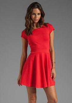 DIANE VON FURSTENBERG Delyse Dress in Crimson