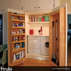 Hidden Laundry Nook... Brilliant Use of Space!