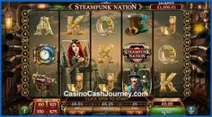 Steampunk Nation is a 25 pay-line and 5-reel slot machine from the 888 group. This subgenre inspired game features eye candy futuristic visuals, industrial look and a progressive jackpot that's triggered at random. Free Spins and doubling Wild wins add even more substance to the game. http://www.casinocashjourney.com/blog/steampunk-nation-slot-888/