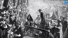 Spain - 1936. - GC - Retorn de Lluís Companys. Abril de 1936. - @ Josep Brangulí. Barcelona, Catalunya. Barcelona, Frente Popular, European History, Spanish, War, Painting, Magazines, Madrid, Daguerreotype