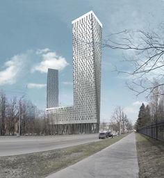 Mosfilmovskaya building, Moscow.  Architect —Sergey Skuratov, http://www.skuratov-arch.ru