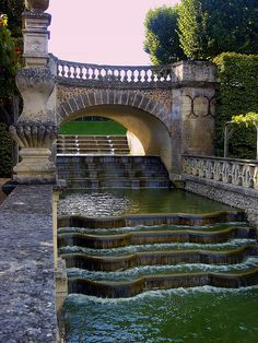 The Water Garden at the Chateau of Villandry, France.