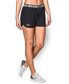 Under Armour Women's Play Up Shorts Black/Black Small Under Armour Women, Active Wear, Gym Shorts Womens, Clothes, Play, Collection, Shopping, Tops, Design