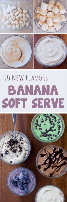 Ten flavors of creamy vegan banana ice cream you can make at home, with just a few ingredients! Full recipes: https://chocolatecoveredkatie.com/2016/08/22/banana-ice-cream-healthy/ @choccoveredkt