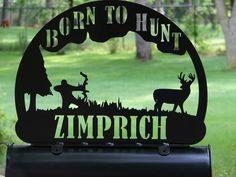 Bow Hunter MAILBOX TOPPER Address Sign Home Decor Deer Hunting.