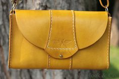 VanHook & Co.: Yellow Leather Purse with Convertible Strap VanHook & Co.: Yellow Leather Purse with Convertible Strap Leather Crossbody Bag, Leather Purses, Leather Handbags, Leather Wallet, Leather Totes, Leather Gifts, Leather Bags Handmade, Fashion Handbags, Purses And Handbags