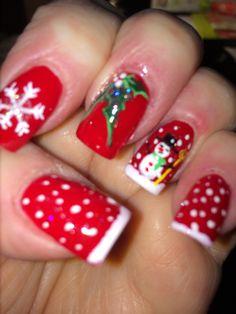 my Christmas nails Dec. 15, 2014