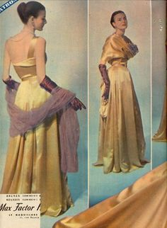 1940s fashion, the Forties, 40's Fashion, Vintage Elegant Style, Elle 6 dec1948