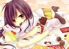 Anime Girl (eating chocolate)