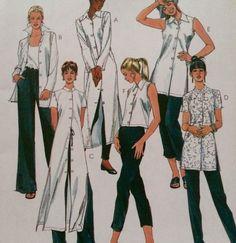 McCalls 2156 Shirt Tunic Pattern 3 Lengths Sz 4-6 Mandarin Collar Petite-Able