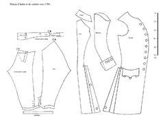patron veste redingote | Tenue Homme Vert d'eau et Bronze vers 1785