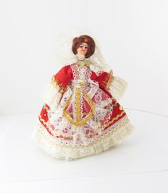 Vintage Collectible Souvenir Doll Lace Sequins by SaturdayMorningM