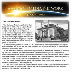 Mormon Media Network -- The Salt Lake Theater