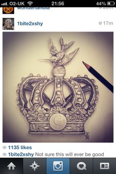 Crown tattoo for Princess Lynsey.