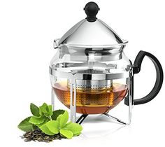 Culinaire Functional Infuser Tea Maker  Premium Stainless Steel Tea Infuser  Heat Resistant Glass ** See this great product.Note:It is affiliate link to Amazon.