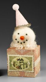 Sweet Felted Snowman