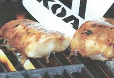 Grilled Halibut with Coffee Butter