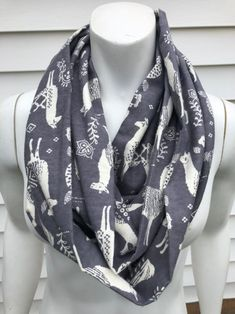 🦙This llama scarf is the absolute cutest🦙It is available in toddler to adult size in a regular scarf or an infinity scarf (as pictured.)🦙Direct link to my shop is in my bio🦙 Chicago Fashion, Nyc Fashion, Boho Fashion, Autumn Fashion, Royal Blue Tie, Toddler Scarf, Flannel Pajamas, Handmade Scarves, Perfect Gift For Her