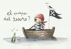 Pirate Illustration, Book Illustration, Baby Decor, Kids Decor, Painting For Kids, Art For Kids, Pirate Images, The Pirates, Sweet Drawings