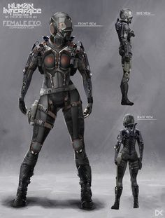 ArtStation - Human Interface - Character concept art ( Female Commando ), Darius…