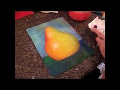 Pear Painting Tutorial for Kids and Beginners - Free Acrylic Painting Lesson - YouTube