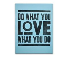 Do What You Love Print (Blue)