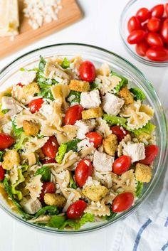 Chicken Caesar Pasta SaladReally nice recipes. Every hour.Show  Mein Blog: Alles rund um Genuss & Geschmack  Kochen Backen Braten Vorspeisen Mains & Desserts!