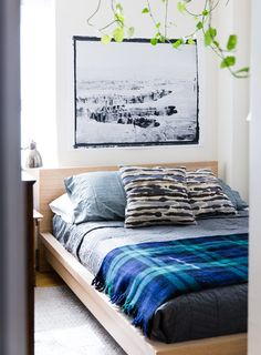 Mixe de draps bleus, motifs et plaid écossais