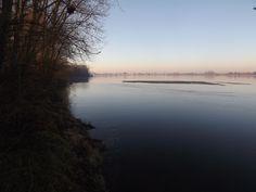 fin d'après midi, soleil couchant sur la Loire