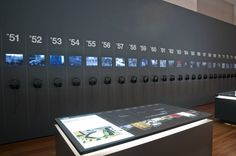 60 Years - 60 Works - multitouch table and screen wall