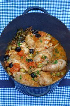 Poulet champignons olives,encore meilleur que le poulet basquaise !