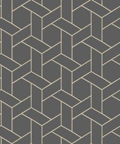 Focale Charcoal wallpaper by Casadeco Your baby blanket – workout routines carries a small scrub Motif Art Deco, Art Deco Pattern, Art Deco Design, Pattern Design, Floor Patterns, Wall Patterns, Graphic Patterns, Textures Patterns, Geometric Designs