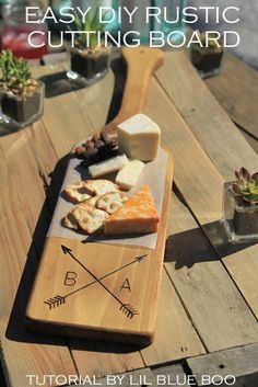 DIY Rustic Personalized Wood Cutting Board - Handmade Wedding Gift Ideas by MichaelsMakers Lil Blue Boo