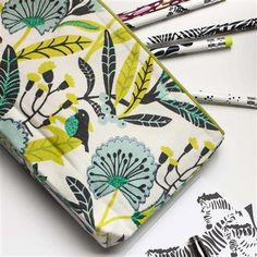 Galison - Avian Tropics Handmade Embroidered Pouch
