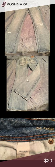 AmericanEagle jeans Worn look, bought as such, don't fit anymore American Eagle Outfitters Jeans Boot Cut