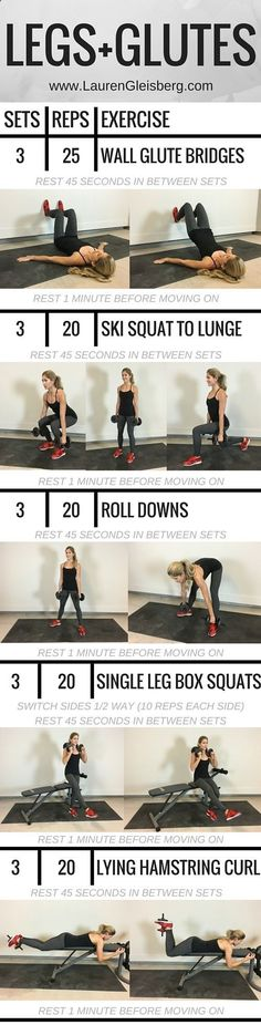 #LGFitAndLean2016 Fitness Challenge - Legs and Glutes Weight Training Workout LaurenGleisberg.com diet plans to lose weight for women over 60