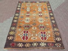Anatolia-Antique-Turkish-Antalya-Nomads-Kilim-66-9-034-x-95-2-034-Area-Rug-Carpet