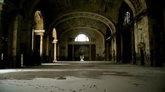 New York Central Terminal in Buffalo, N.Y. In operation from 1929 to 1979.  Many train stations that were built in the 19th and early 20th century, when luxury train travel was at its pinnacle, are crumbling with its tracks overrun by weeds.