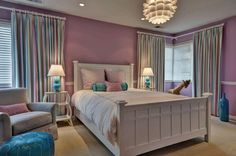 girls bedroom - Evars + Anderson Interior Design