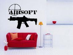 Gun Sticker Weapon Decal Rifle Muurstickers Posters Vinyl Wall Art Decals Pegatina Quadro Parede Decor Gun Sticker