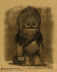 Chewbaca's first day of school. Cutest. Thing. Ever.