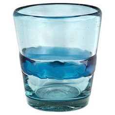 Ribbon Blue Double Old-Fashioned Glasses (Set of 4)
