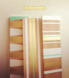 DIY Painted Shelves >> Simple and fun home upgrade! Fun for the #dormroom too!