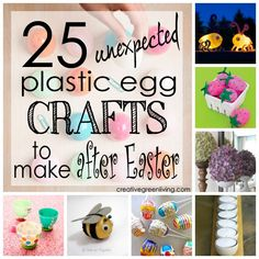 Great ways to use up leftover Easter eggs! Definitely saving this for after Easter crafting.