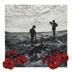 'The Last Post' - POSH Original Art by Jacqueline Hurley War Poppy Collection Signed Limited Edition Print Remembrance Day Poppy Painting Remembrance Day Poppy, Royal British Legion, Original Art, Original Paintings, Limited Edition Prints, Art Reproductions, Wwi, Hurley, Giclee Print